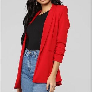 Fashion nova red blazer